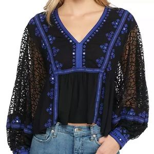 Women's Free people embroidered top
